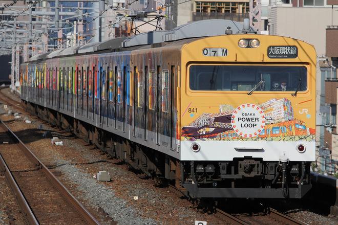 吹田総合車両所森ノ宮支所103系LA3編成を鶴橋駅で撮影した写真