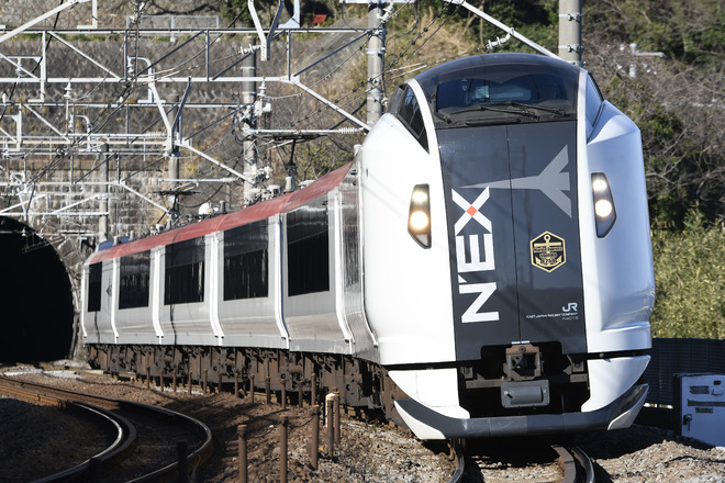E259系を早川~根府川間で撮影した写真