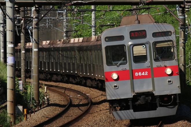 長津田検車区8500系8642Fを田奈~青葉台間で撮影した写真