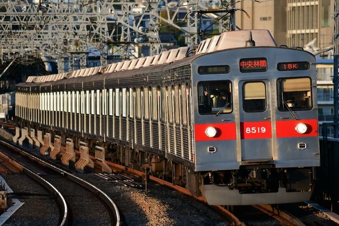 8500系8619Fを二子新地駅で撮影した写真