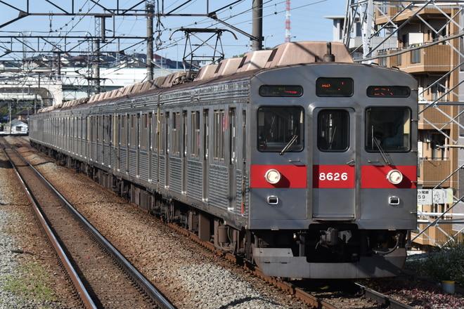 長津田検車区8500系8626Fを市が尾駅で撮影した写真