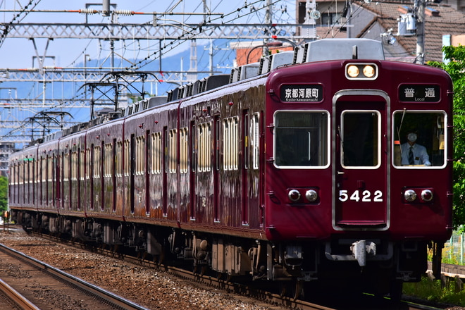 正雀車庫5300系5321Fを西京極~西院間で撮影した写真