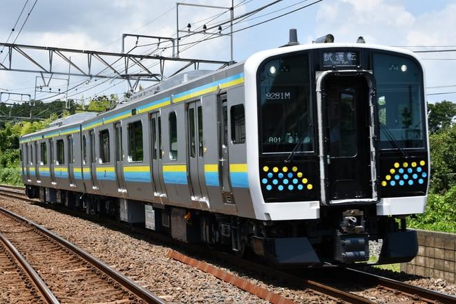 幕張車両センターE131系マリR01編成を大網駅で撮影した写真