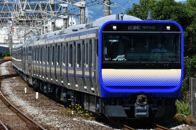 鎌倉車両センター本区E235系F-01編成を小田原駅で撮影した写真