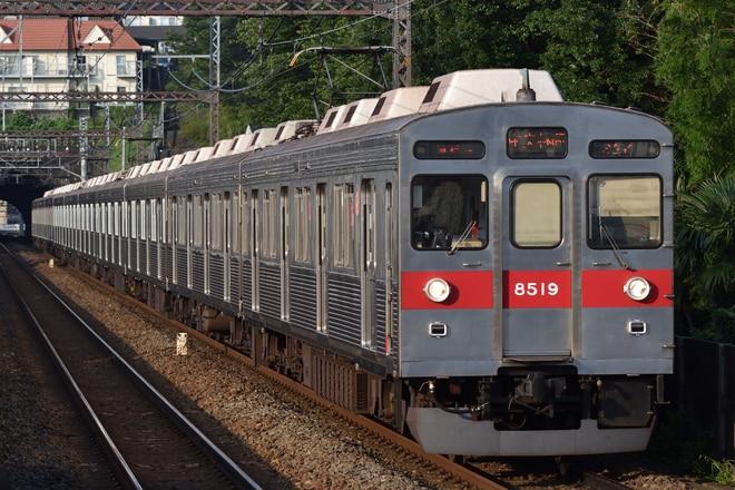 長津田検車区8500系8619Fを田奈駅で撮影した写真
