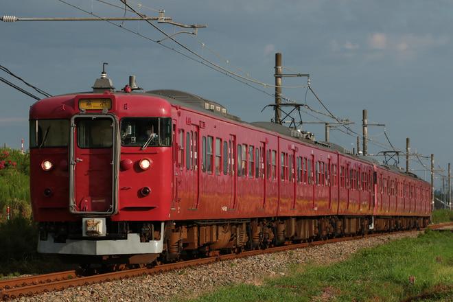 415系サワC08編成を能瀬~本津幡間で撮影した写真