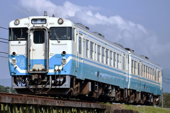 徳島運転所キハ40系2110を牛島~下浦間で撮影した写真