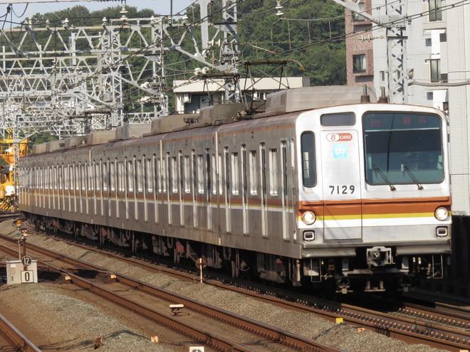 和光検車区7000系7129Fを新丸子駅で撮影した写真