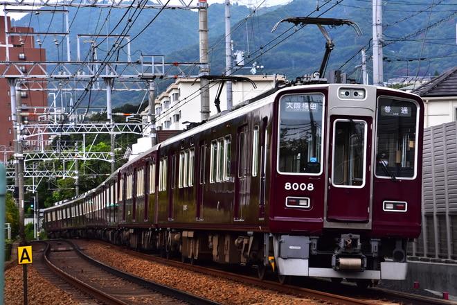 西宮車庫8000系8008Fを御影~岡本間で撮影した写真