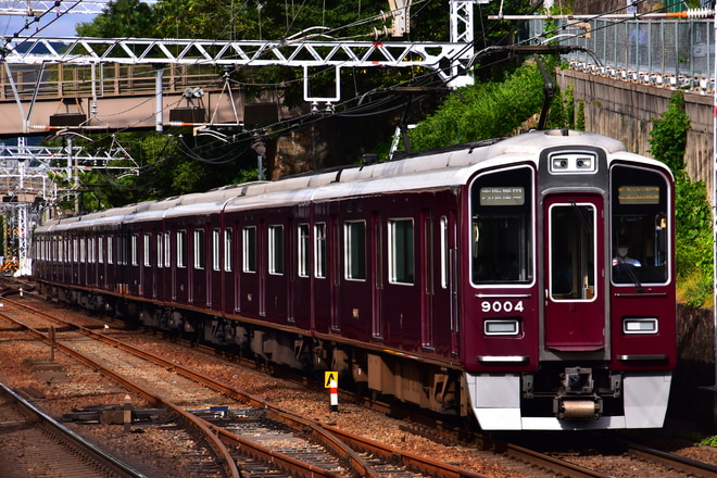 西宮車庫9000系9004Fを御影駅で撮影した写真