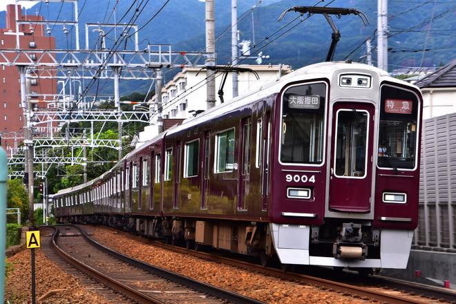 西宮車庫9000系9004Fを御影~岡本間で撮影した写真
