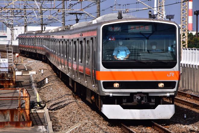 京葉車両センターE231系ケヨMU7編成を葛西臨海公園駅で撮影した写真