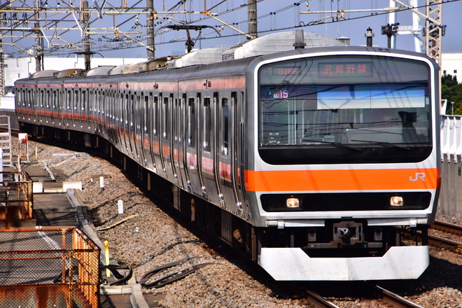 京葉車両センターE231系ケヨMU15編成を葛西臨海公園駅で撮影した写真