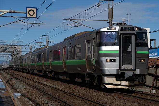 733系733系B-3105編成を新札幌駅で撮影した写真