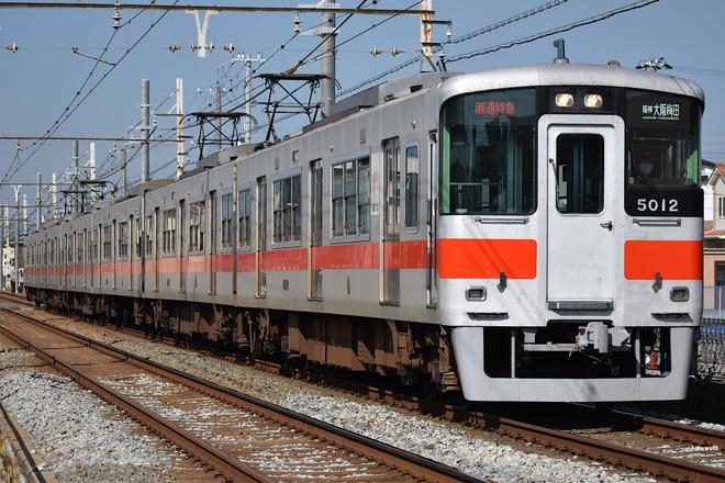 東二見車両基地5000系5012Fを別府~播磨町間で撮影した写真