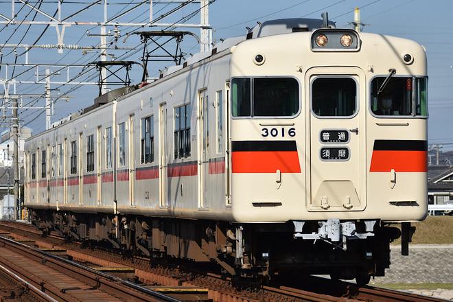 東二見車両基地3000系3016Fを飾磨~妻鹿間で撮影した写真