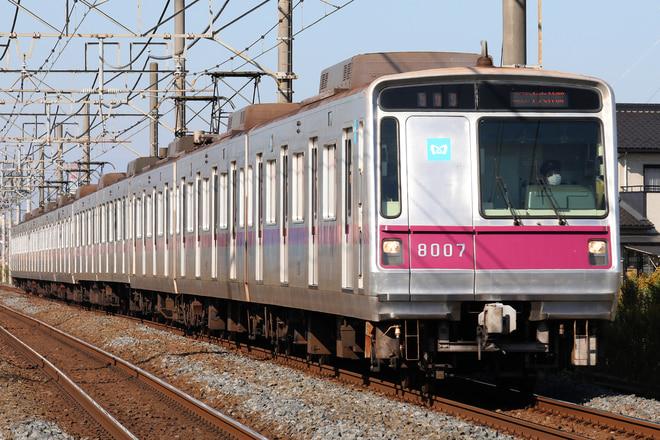 8000系8107Fを東武動物公園~姫宮間で撮影した写真
