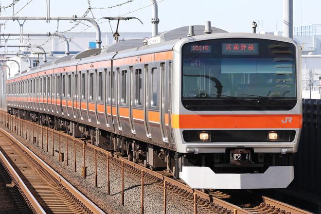 E231系ケヨMU41編成を越谷レイクタウン駅で撮影した写真