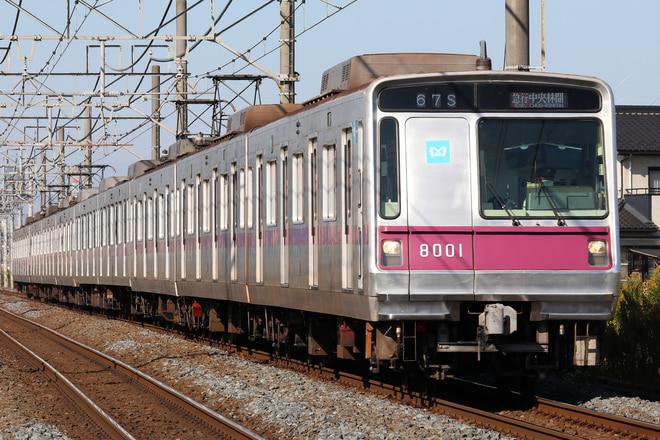 8000系8101Fを東武動物公園~姫宮間で撮影した写真