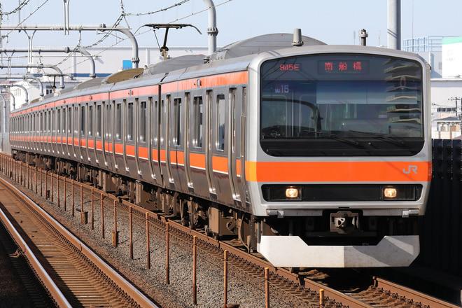 E231系ケヨMU15編成を越谷レイクタウン駅で撮影した写真