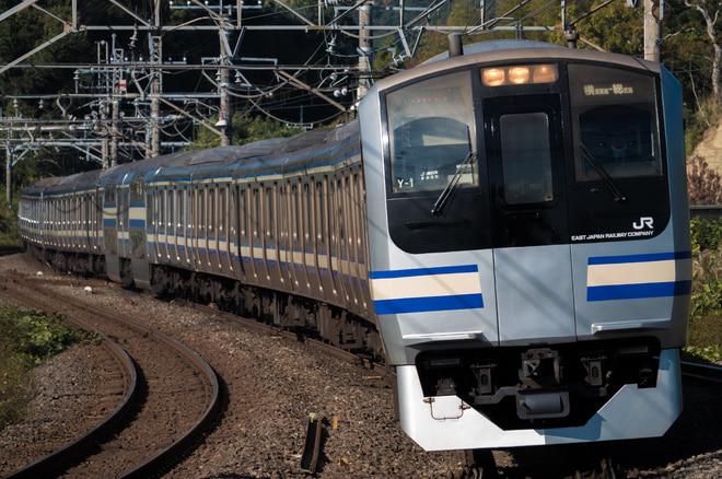 鎌倉総合車両センターE217Y-1を大網駅で撮影した写真