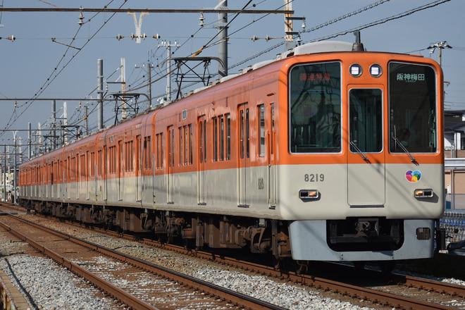 尼崎車庫8000系8219Fを別府~播磨町間で撮影した写真