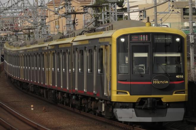 元住吉検車区5050系4110Fを多摩川駅で撮影した写真