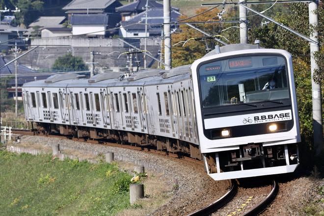 幕張車両センター209系マリJ1編成を南酒々井~佐倉間で撮影した写真