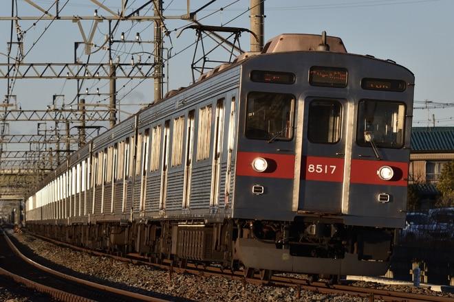 長津田検車区8500系8617Fを幸手~杉戸高野台間で撮影した写真