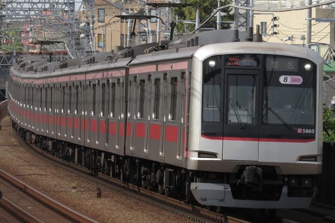 元住吉検車区5050系5160Fを多摩川駅で撮影した写真