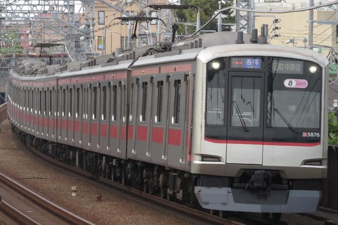 元住吉検車区5050系5176Fを多摩川駅で撮影した写真