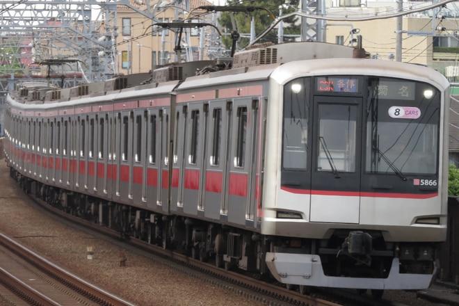 元住吉検車区5050系5166Fを多摩川駅で撮影した写真