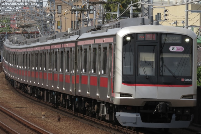 元住吉検車区5050系5164Fを多摩川駅で撮影した写真
