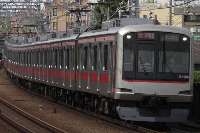 元住吉検車区5050系4108Fを多摩川駅で撮影した写真