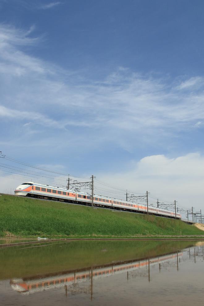 南栗橋車両管区春日部支所100系104Fを新古河~栗橋間で撮影した写真