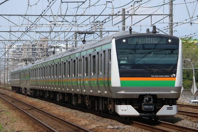 小山車両センターE233系U632を辻堂~藤沢間で撮影した写真