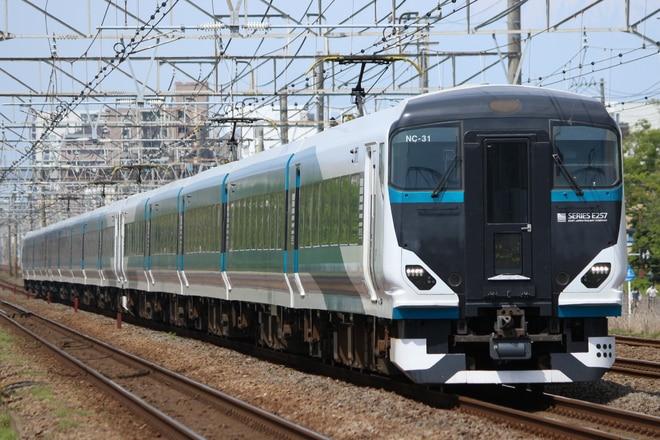 大宮総合車両センター東大宮センターE257系NC-31を辻堂~藤沢間で撮影した写真