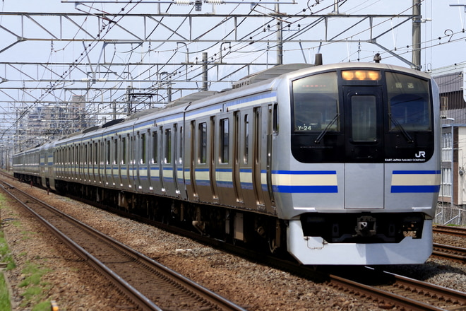 鎌倉車両センター本区E217系Y-24を辻堂~藤沢間で撮影した写真