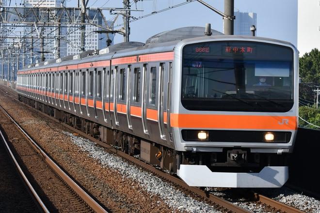 京葉車両センターE231系ケヨMU17編成を市川塩浜駅で撮影した写真