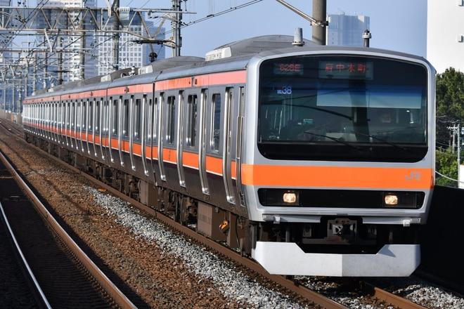 京葉車両センターE231系ケヨMU38編成を市川塩浜駅で撮影した写真