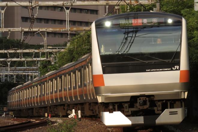 豊田車両センター本区E233系トタ42編成を御茶ノ水~四ツ谷間で撮影した写真
