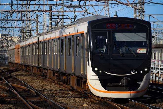 長津田検車区6020系6121Fを鷺沼駅で撮影した写真