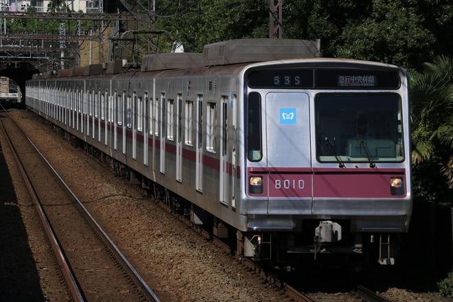 鷺沼検車区8000系8110Fを田奈駅で撮影した写真
