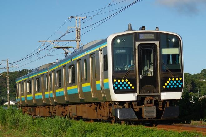 幕張車両センターE131系マリR02編成を九重~館山間で撮影した写真