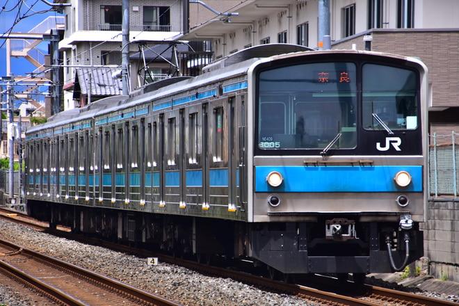 吹田総合車両所奈良支所205系NE409編成を東福寺~稲荷間で撮影した写真