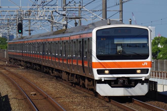 京葉車両センター209系ケヨM76編成を新浦安駅で撮影した写真