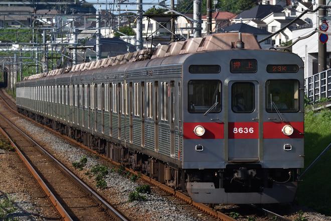 長津田検車区8500系8636Fをつくし野駅で撮影した写真