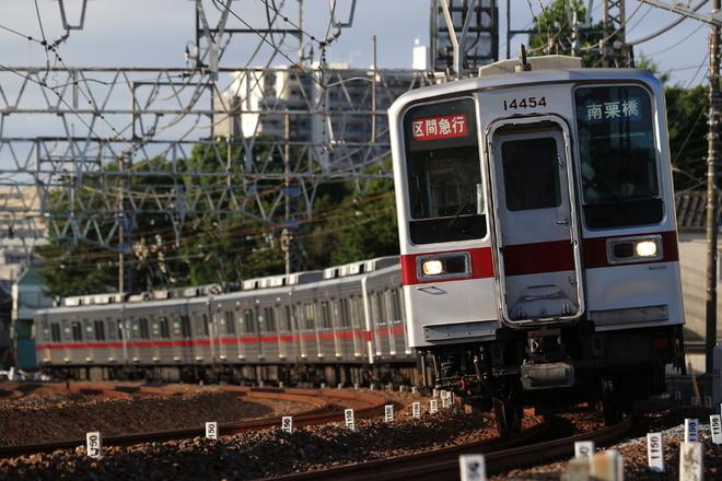 南栗橋車両管区春日部支所10030型11454Fを西新井~竹ノ塚間で撮影した写真