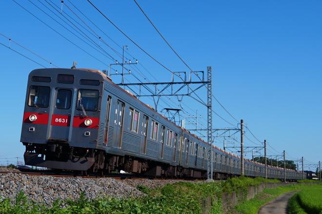 長津田検車区8500系8631Fを幸手~南栗橋間で撮影した写真