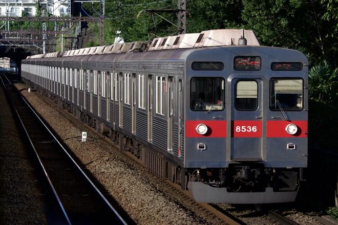 長津田検車区8500系8636Fを田奈駅で撮影した写真